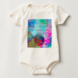 Rewards is coming up for good people baby bodysuit