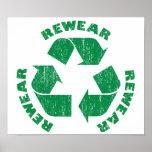 Rewear Rewear Rewear Recycle Symbol Print