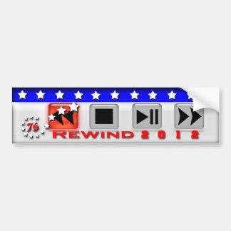 Rewind 2012 bumper sticker