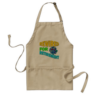 Rewired For Retirement Adult Apron