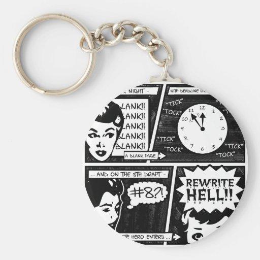 Rewrite Hell Comic Strip Keychains