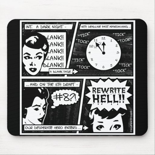 Rewrite Hell Comic Strip Mouse Pad