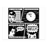 Rewrite Hell Comic Strip Postcard