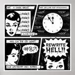Rewrite Hell Comic Strip Print