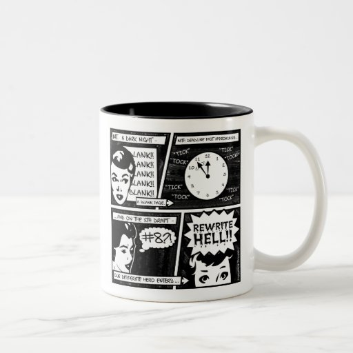 Rewrite Hell Comic Strip Two-Tone Coffee Mug