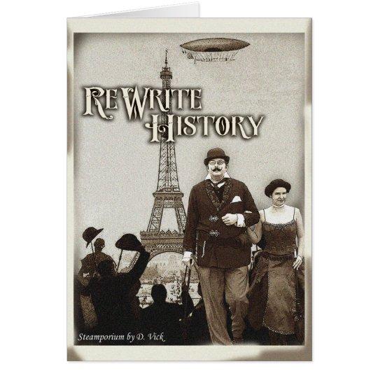 Rewrite History Greeting Card