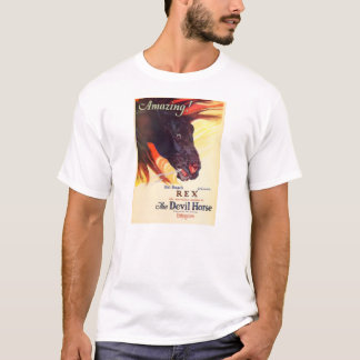"""Rex 1926 """"Devil Horse' sient movie exhibitor ad T-Shirt"""