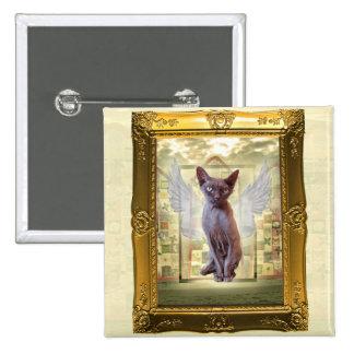 Rex Cat Angel Pin