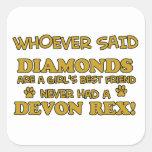 rex de Devon mejor que diamantes Pegatina Cuadrada