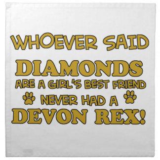 rex de Devon mejor que diamantes Servilletas