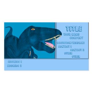 Rex de rugido tarjetas de visita