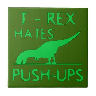 REX de T ODIA el diseño divertido de Dino de los P Azulejo Cuadrado Pequeño