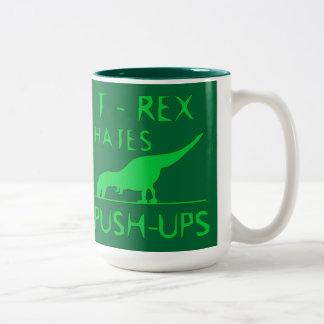 REX de T ODIA el diseño divertido de Dino de los Taza De Dos Tonos