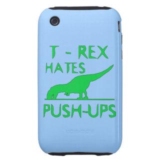 REX de T ODIA el diseño divertido de Dino de los Tough iPhone 3 Carcasas