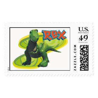 Rex de Toy Story que se coloca con una cara Sello