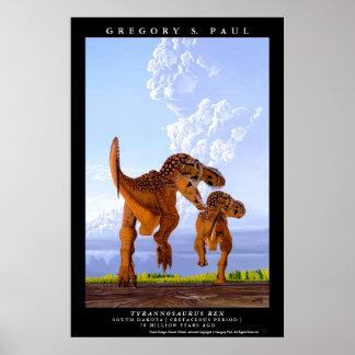 Rex Greg Paul del Tyrannosaurus T del poster del d