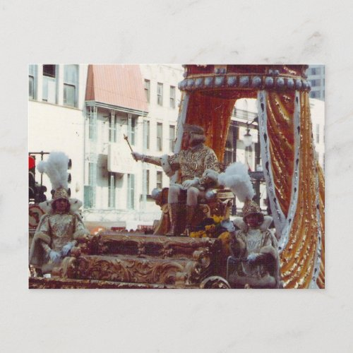 Rex King of Mardi Gras 1983 postcard