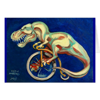 Rex On A Bicycle Card