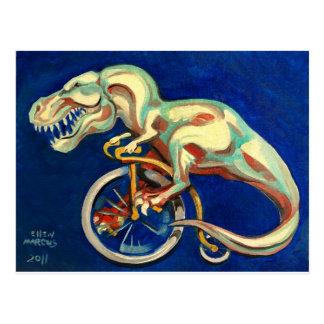 Rex On A Bicycle Postcard