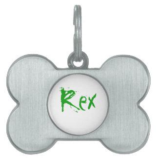 Rex Placas De Mascota