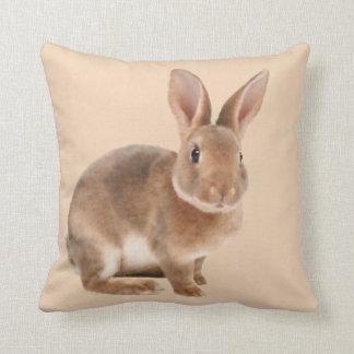 Rex Rabbit Throw Pillow