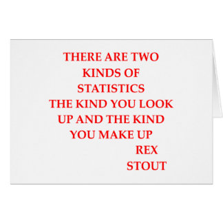 rex stout quote greeting card