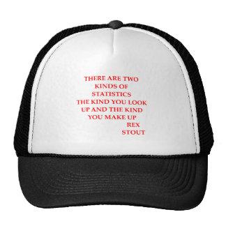 rex stout quote mesh hats