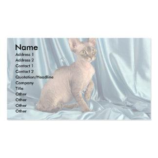 Rex, tabby marrón tarjetas de visita