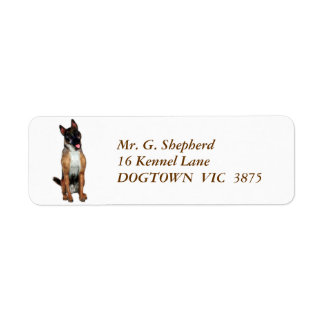 Rex, the German Shepherd Label
