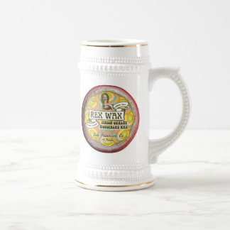 Rex Wax: Handmade Moustache Wax Beer Stein 18oz