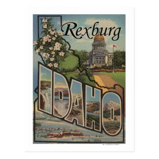 Rexburg, Idaho - escenas grandes de la letra Tarjeta Postal