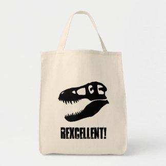 """""""Rexcellent!"""" T-Rex Skull Tote Bag"""