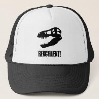 """Rexcellent!"" T-Rex Skull Trucker Hat"