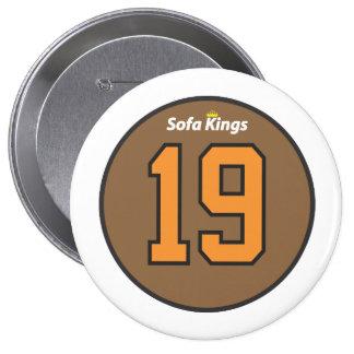 Rey 19 botón del sofá pin redondo de 4 pulgadas