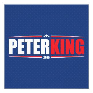 Rey 2016 de Peter (estrellas y rayas - azul) Impresiones Fotograficas