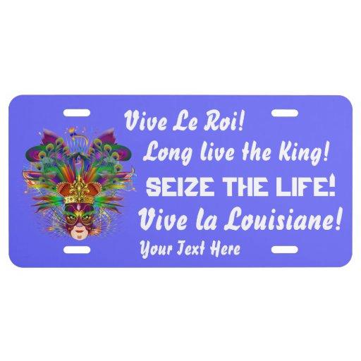 Rey 2 visión del carnaval sobre diseño placa de matrícula