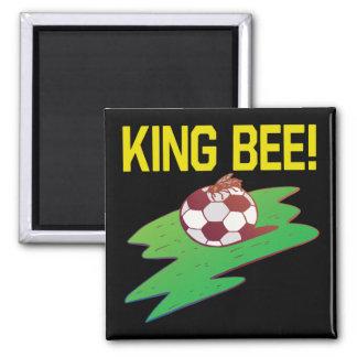 Rey abeja imán cuadrado