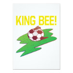 Rey abeja invitación 12,7 x 17,8 cm