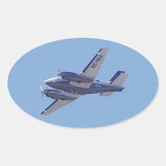 Rey Air de la haya B90 Pegatina Ovalada