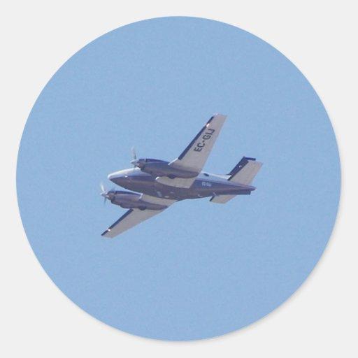 Rey Air de la haya B90 Pegatina Redonda