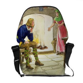 Rey Alfred (849-99) que quema las tortas, del 'pío Bolsa Messenger