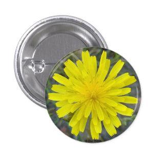 Rey amarillo diablo del Wildflower F0016 Pin Redondo De 1 Pulgada
