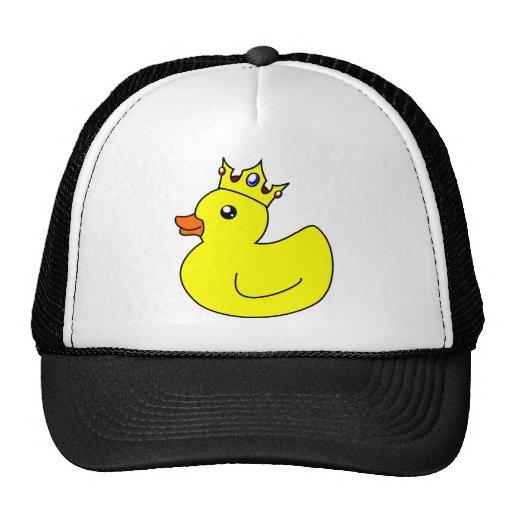 Rey amarillo Rubber Duck Gorras De Camionero