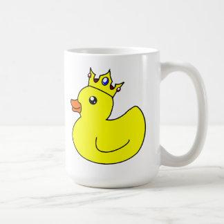 Rey amarillo Rubber Duck Taza De Café