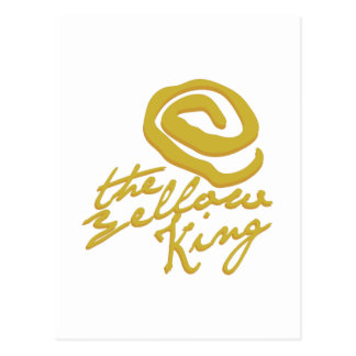 Rey amarillo postal
