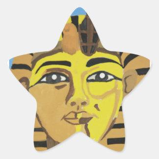 Rey antiguo pegatina forma de estrella personalizada