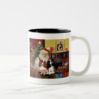 Rey arrogante Charles (dos) de Santa en casa Tazas De Café