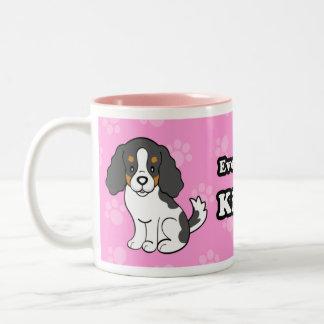Rey arrogante Charles Mug del perro del dibujo Taza De Café De Dos Colores