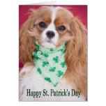 Rey arrogante Charles Pup del día de St Patrick fe Tarjeta