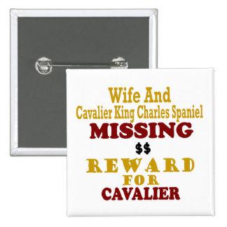 Rey arrogante Charles y recompensa que falta de la Pins